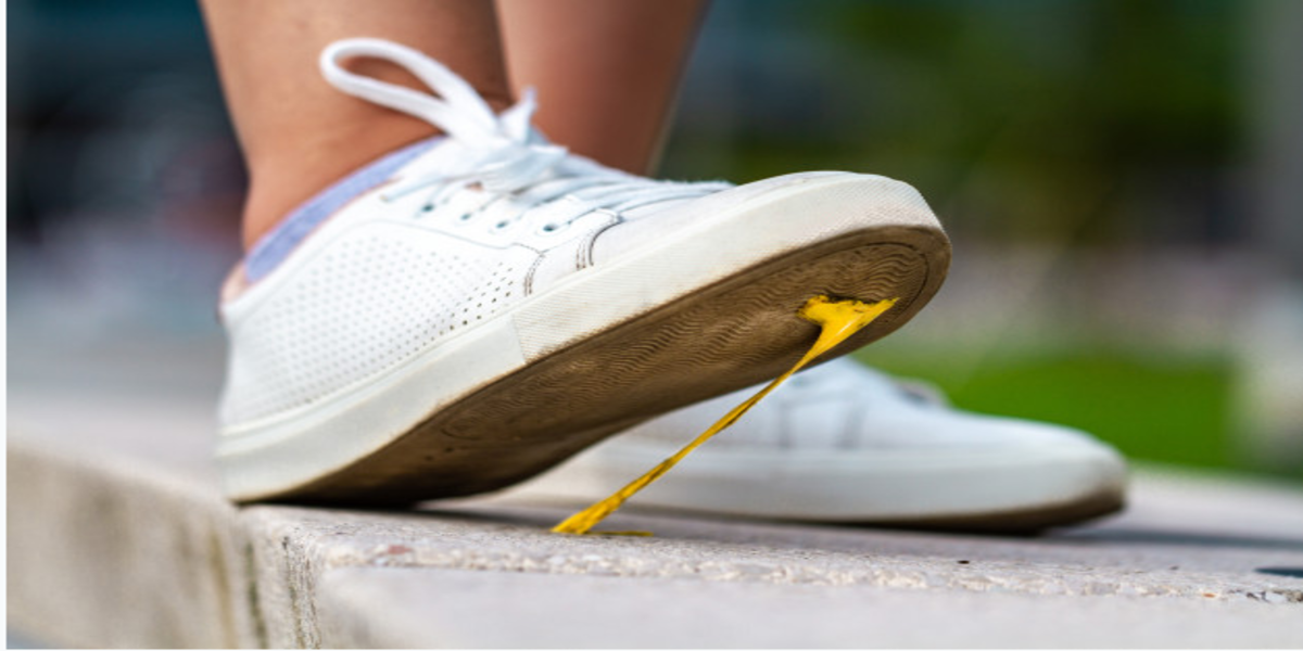 How to Remove Gum from Sneakers