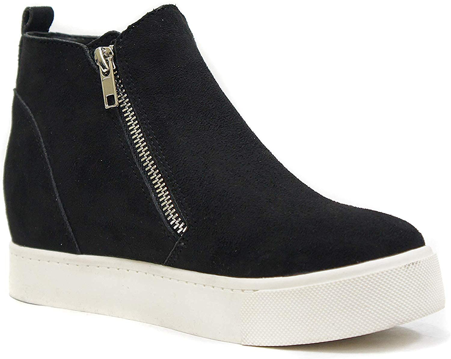 Soda Womens Taylor Nubuck High Top Slip On Fashion Sneakers